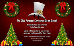 Club Fantasci Launches the Club Fantasci Christmas Game Drive